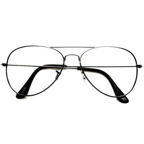 itGirl Shop AVIATOR CLEAR GLASSES
