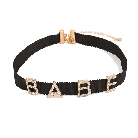 Buy Cheap Aesthetic Clothing BABE RHINESTONES LETTERS CHOKER Sale 30% OFF itGirl Shop itgirlclothing.com