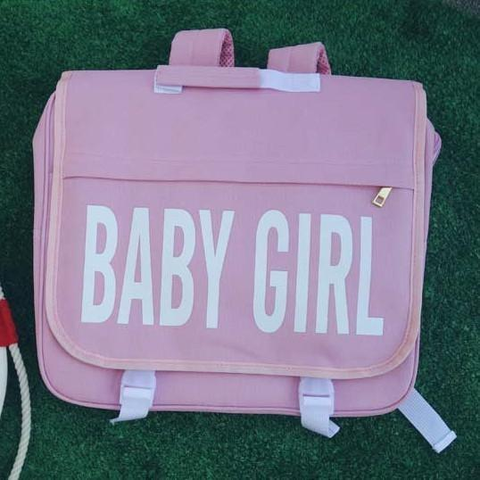itGirl Shop BABY GIRL PINK BLACK COLLEGE BACKPACK