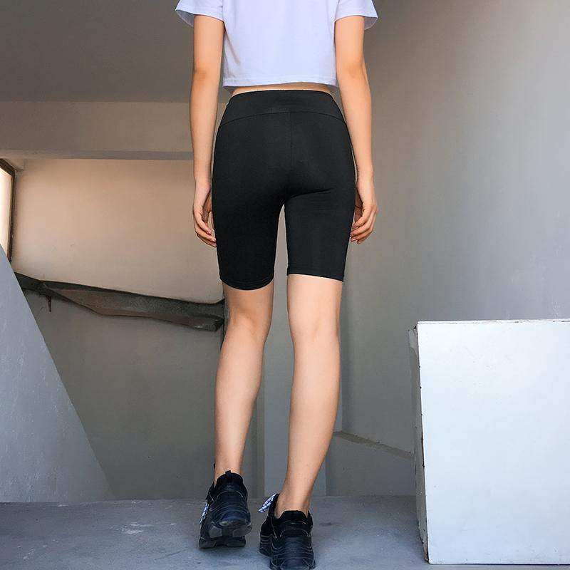 itGirl Shop BASIC BLACK ZIPPER BIKE SHORTS