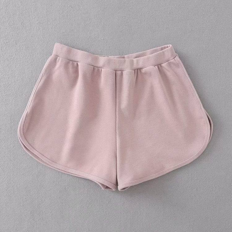 itGirl Shop BASIC SPORTY SWEET COLORS THIN ELASTIC SHORTS