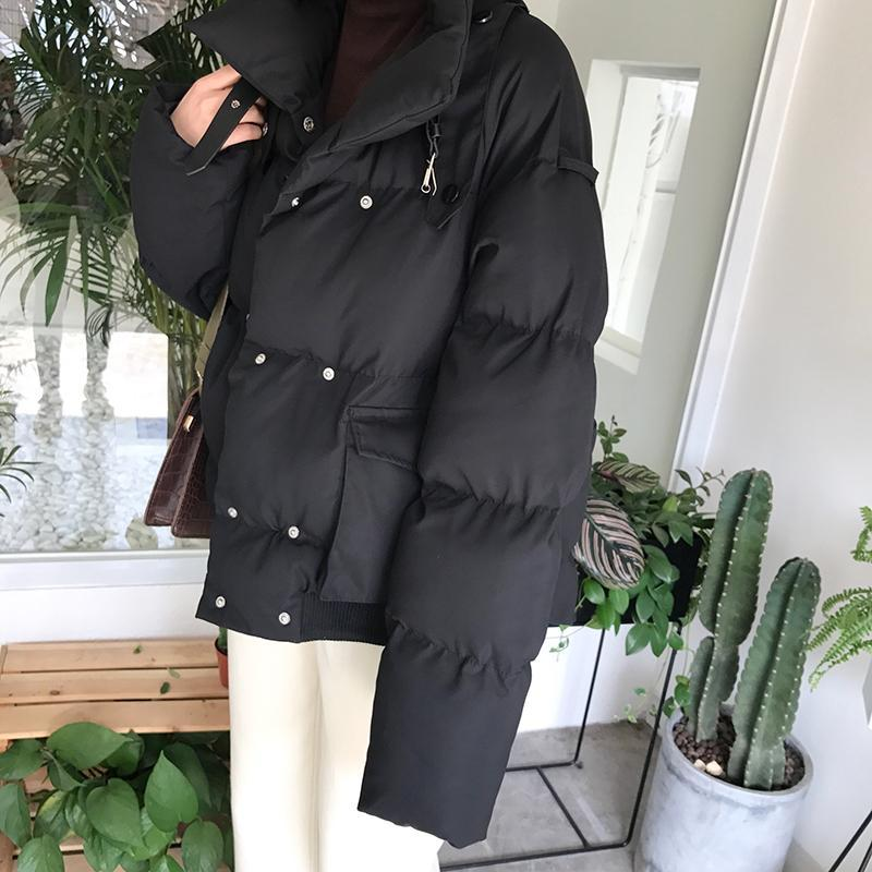 itGirl Shop BEIGE BLACK GREEN PUFF QUILTED OUTWEAR JACKET