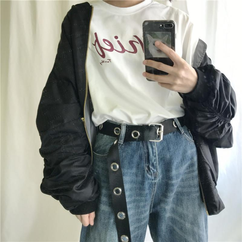 itGirl Shop BLACK CANVAS TEENAGERS GRUNGE METALLIC HOLES BELT Aesthetic Apparel, Tumblr Clothes, Soft Grunge, Pastel goth, Harajuku fashion. Korean and Japan Style looks