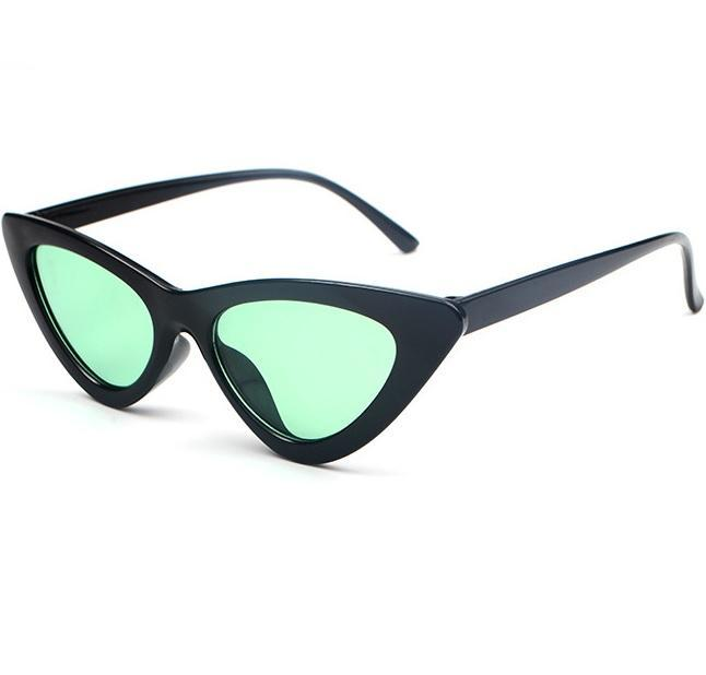 itGirl Shop BLACK CAT SHARP CORNER FRAME COLORFUL LENS SUNGLASSES