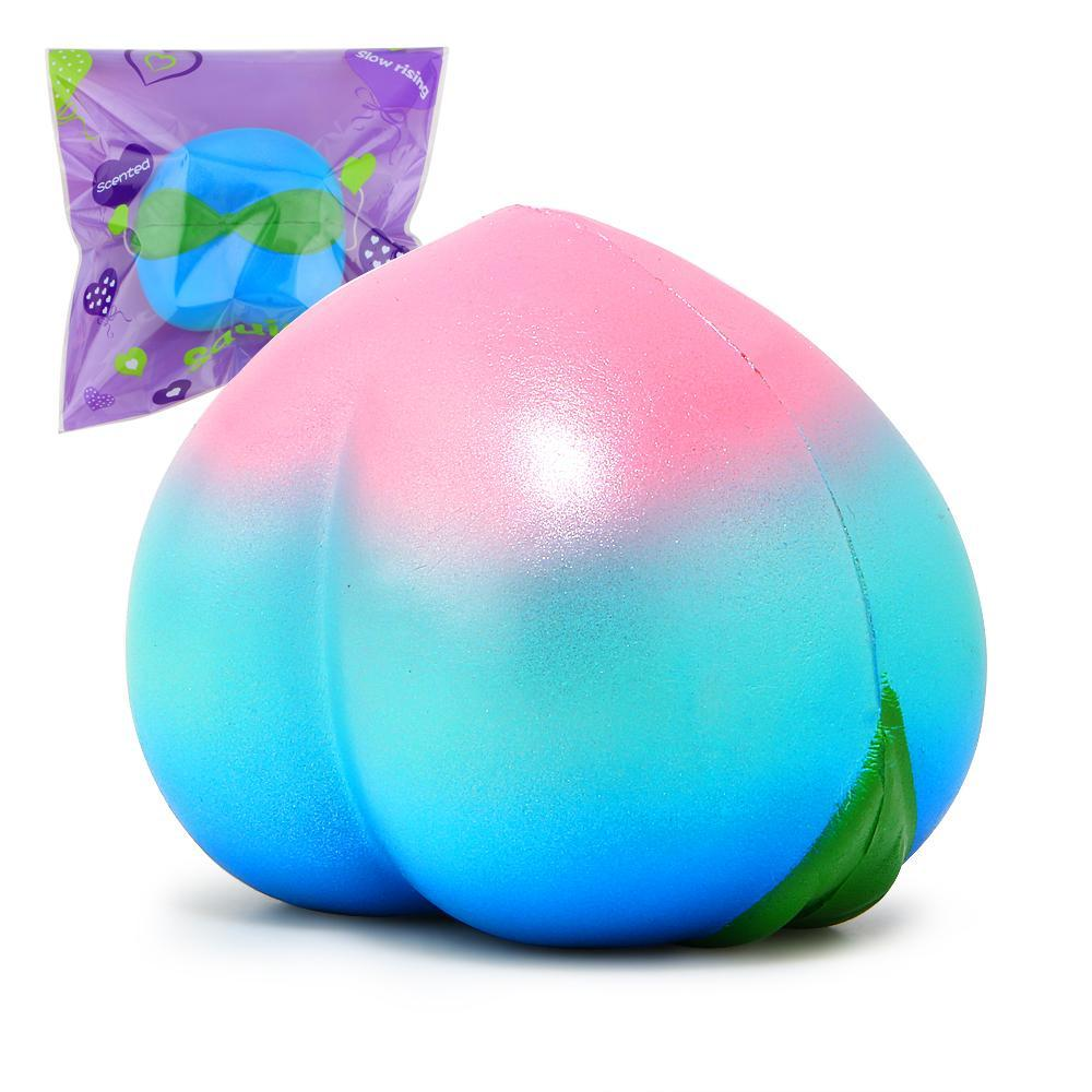 itGirl Shop BLUE GRADIENT SQUISHY PEACH SATISFIED RUBBER ANTISTRESS HAND TOY