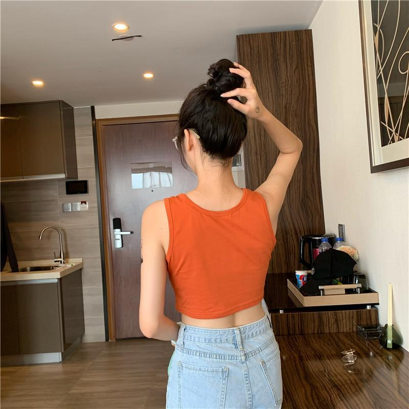 itGirl Shop BRIGHT COLORS AESTHETIC SUMMER THIN CROP TOP