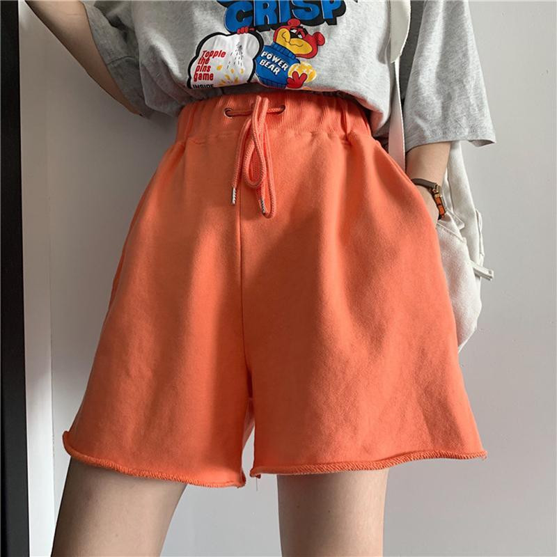 itGirl Shop BRIGHT COLORS ELASTIC WAIST COMFY LOOSE SHORTS
