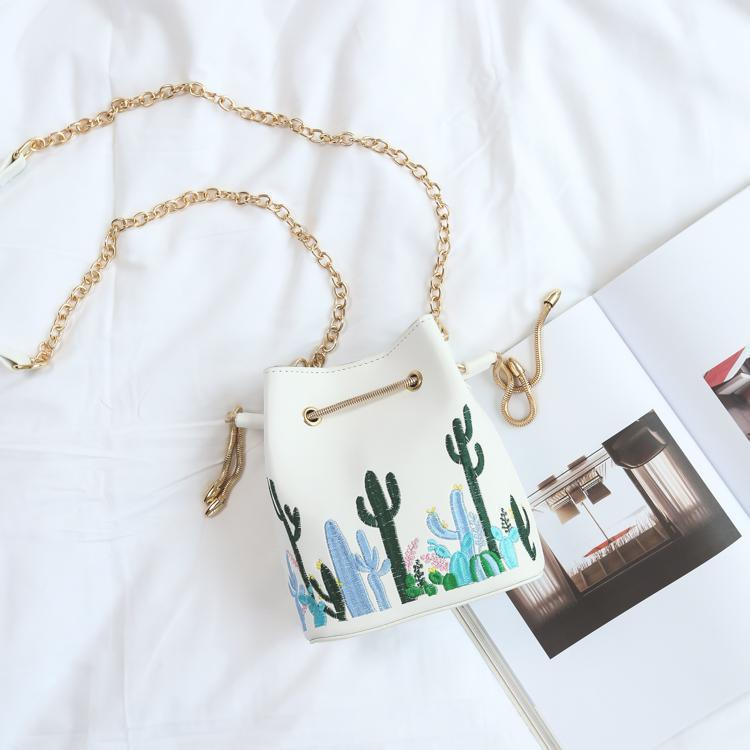 itGirl Shop CACTUSES PLANTS EMBROIDERY SHOULDER LEATHER PURSE BAG Aesthetic Apparel, Tumblr Clothes, Soft Grunge, Pastel goth, Harajuku fashion. Korean and Japan Style looks