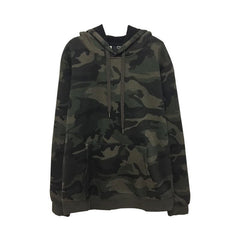 CAMOUFLAGE PATTERN OVERSIZED HOODED SWEATSHIRT