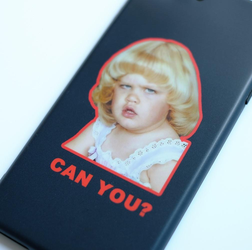 itGirl Shop CAN YOU FUNNY MEME GIRL BLACK IPHONE COVER CASE