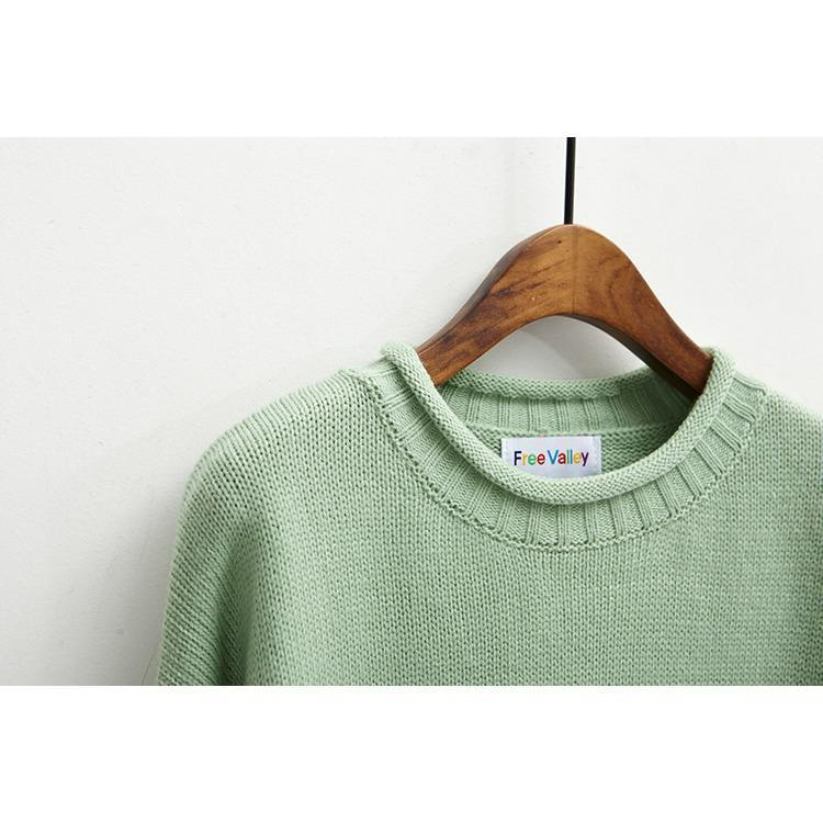 Buy Cheap Aesthetic Clothing CANDY COLORS KNIT O-NECK SWEATERS Sale 30% OFF itGirl Shop itgirlclothing.com