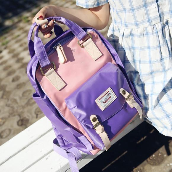 itGirl Shop CANDY COLORS SATCHEL CELLEGE BACKPACK