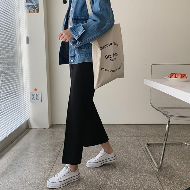 itGirl Shop CASUAL HIGH WAIST OFFICE STYLE STRAIGHT PANTS
