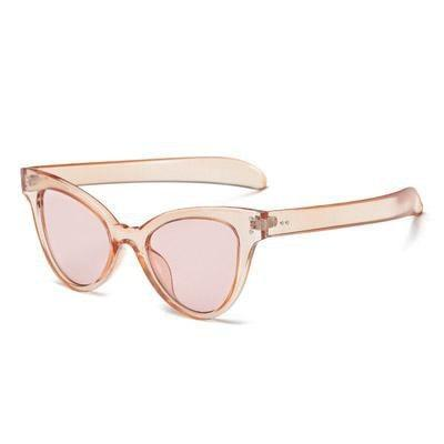 itGirl Shop CAT SHAPE CORNER TRANSPARENT COLORFUL FRAME SUNGLASSES