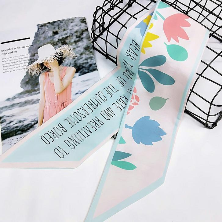 itGirl Shop CHIFFON CUTE MEME LIGHT SMALL HEAD BAND SCARF