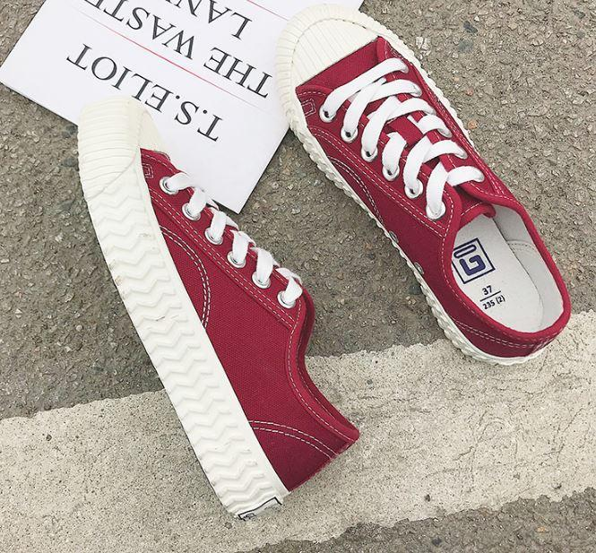 itGirl Shop CLASSIC CANVAS LACE UP SNEAKERS