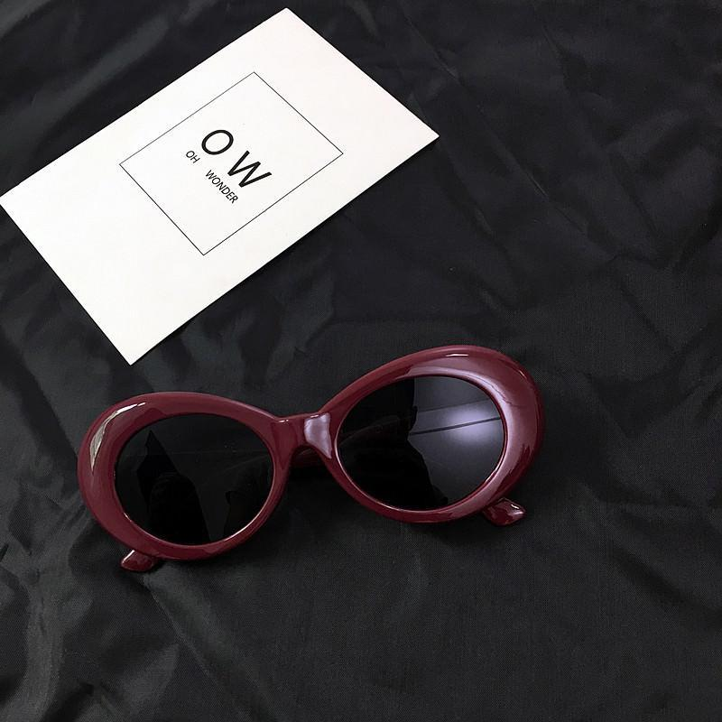 itGirl Shop COBAIN THICK ROUND FRAME ALIEN SUNGLASSES Aesthetic Apparel, Tumblr Clothes, Soft Grunge, Pastel goth, Harajuku fashion. Korean and Japan Style looks