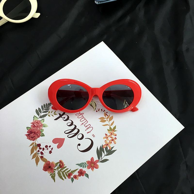 itGirl Shop COBAIN THICK ROUND FRAME ALIEN SUNGLASSES