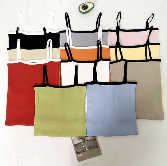 COLORFUL AESTHETIC GIRL STRAPS SLEEVELESS TUBE TOP