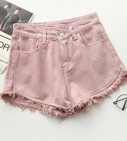 Itgirl Colorful Denim Summer Casual Shorts Itgirl Shop