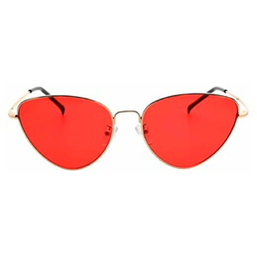 itGirl Shop COLORFUL SHARP ROUND GRUNGE SUNGLASSES