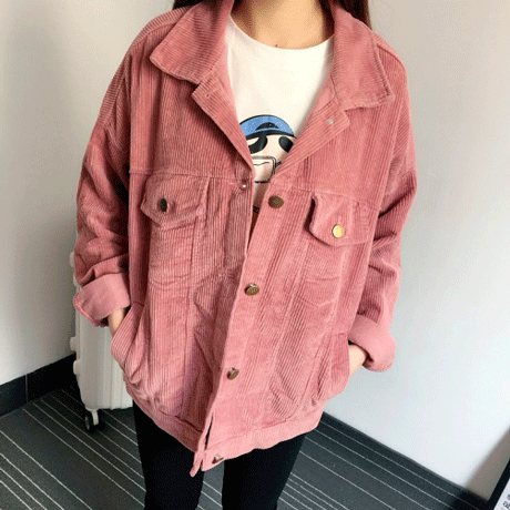 itGirl Shop CORDUROY GRAY PINK COLLAR OUTWEAR Aesthetic Apparel, Tumblr Clothes, Soft Grunge, Pastel goth, Harajuku fashion. Korean and Japan Style looks