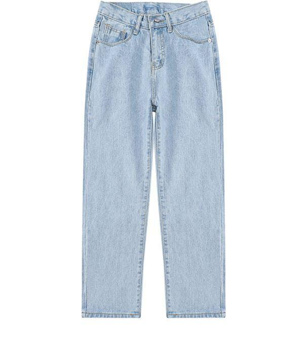 itGirl Shop CROPPED WIDE LEG HIGH WAIST DENIM JEANS