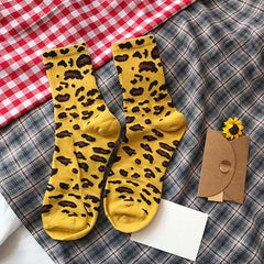 CUTE COLORFUL LEOPARD ANIMAL PRINT SOCKS