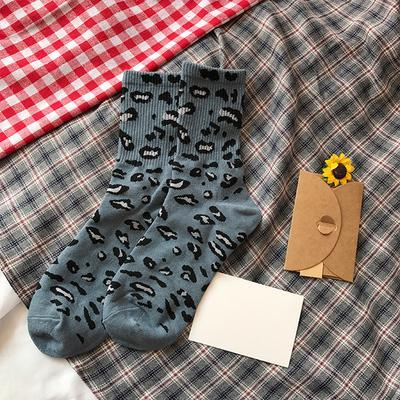 itGirl Shop CUTE COLORFUL LEOPARD ANIMAL PRINT SOCKS