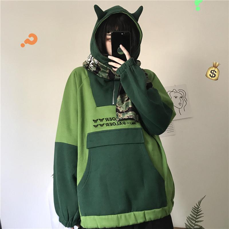 itGirl Shop CUTE EARS KAWAII AESTHETIC HOODED OVERSIZED SWEATSHIRT