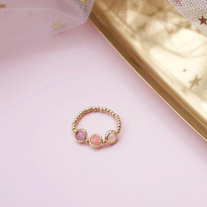 CUTE GOLDEN METAL SMALL BRACELET AND RING