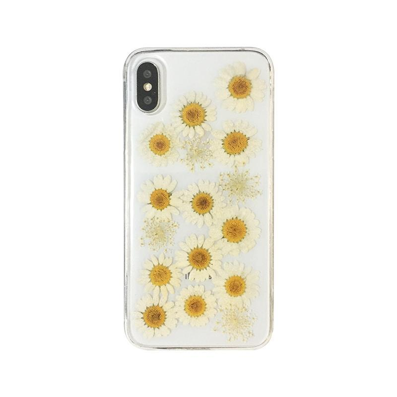 itGirl Shop CUTE HERBARIUM FLOWERS TRANSPARENT IPHONE CASE