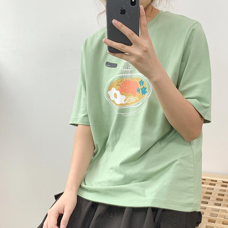 factory outlets wholesale outlet cheaper sale CUTE JAPANESE FOOD PRINTED OVERSIZED T-SHIRT