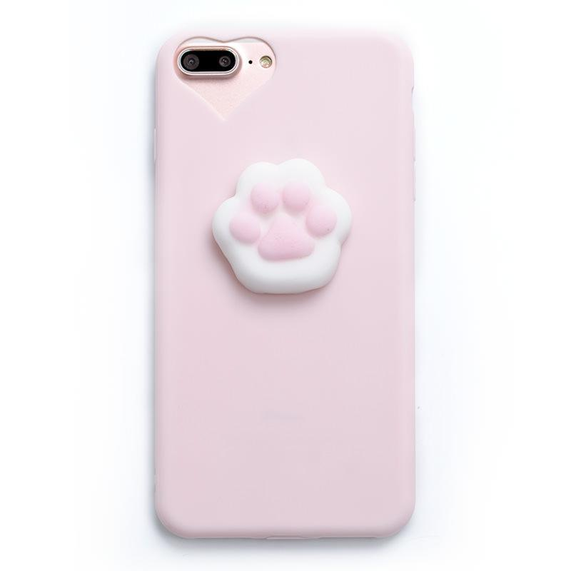 itGirl Shop CUTE PAW AND SEAL SQUISHY RUBBER IPHONE CASE