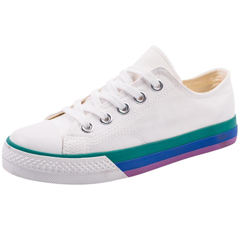 CUTE RAINBOW SOLE CANVAS SNEAKERS