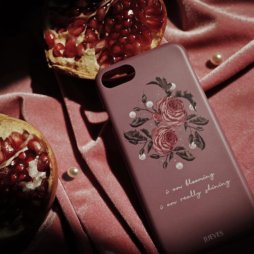itGirl Shop CUTE RETRO PEARLS PINK ROSE IPHONE COVER CASE