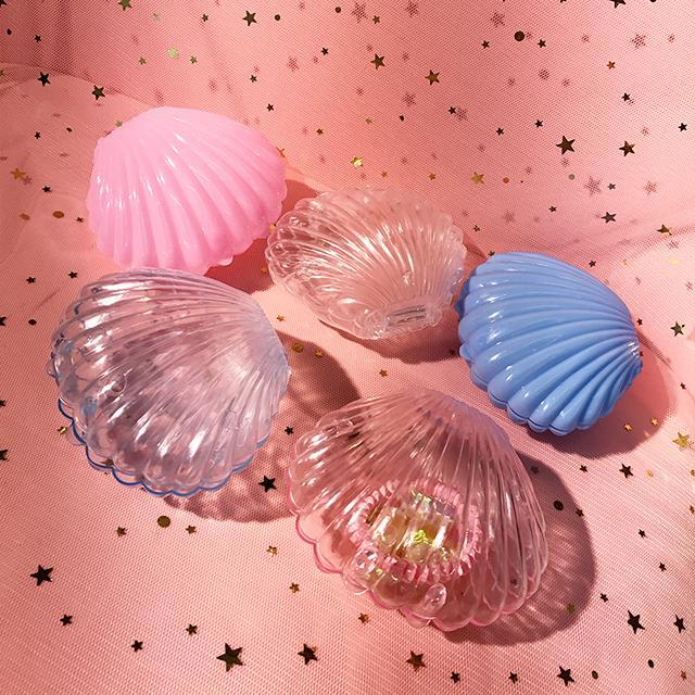 itGirl Shop CUTE SHELL SHAPE TRANSPARENT BOX Aesthetic Apparel, Tumblr Clothes, Soft Grunge, Pastel goth, Harajuku fashion. Korean and Japan Style looks