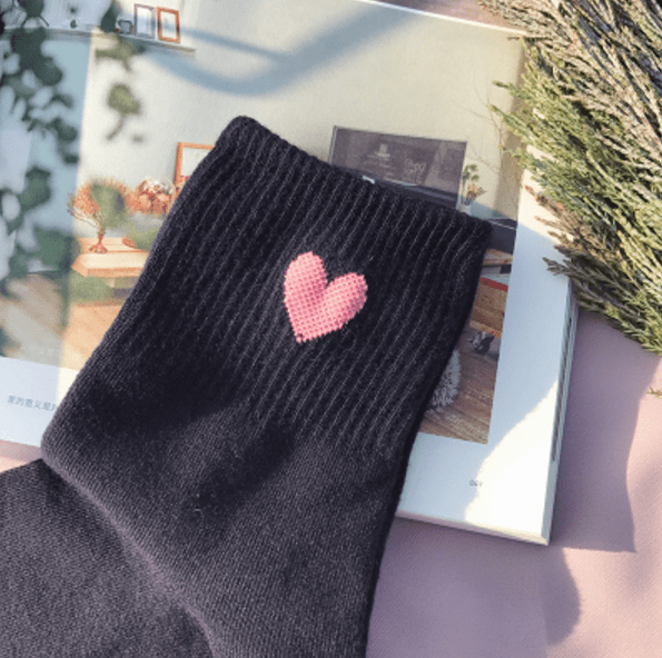 itGirl Shop CUTE SMALL HEARTS ANKLE SOCKS Aesthetic Apparel, Tumblr Clothes, Soft Grunge, Pastel goth, Harajuku fashion. Korean and Japan Style looks