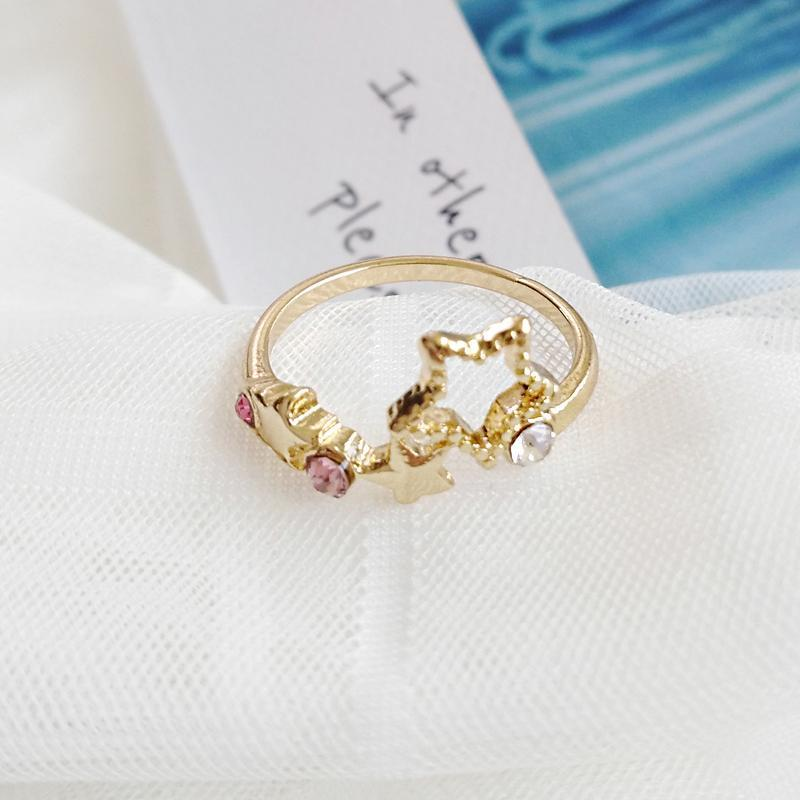 itGirl Shop CUTE SMALL METALL UNICORN PLANET STARS RABBIT SQUIRREL RING