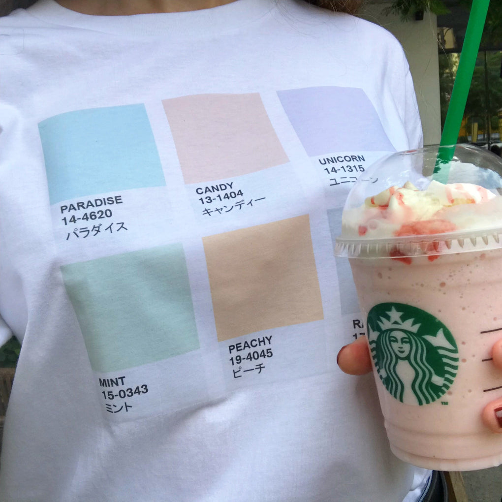 itGirl Shop D PASTEL COLOURS TONES AESTHETIC JAPANESE T-SHIRT Aesthetic Apparel, Tumblr Clothes, Soft Grunge, Pastel goth, Harajuku fashion. Korean and Japan Style looks