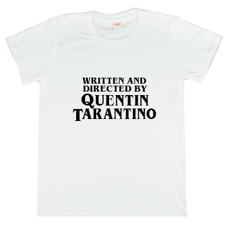 itGirl Shop D WRITTEN AND DIRECTED BY QUENTIN TARANTINO PRINT T SHIRT