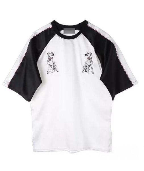 itGirl Shop DALMATIANS EMBROIDERY LONG TSHIRT