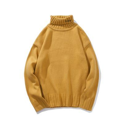 itGirl Shop DAYS OF THE WEEK LETTERS COWL TURTLE NECK KNITTED SWEATER