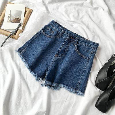 itGirl Shop DENIM FRINGE CASUAL SUMMER CLASSIC SHORTS