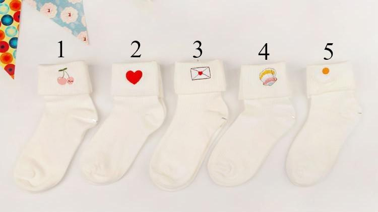 itGirl Shop DIDIZIZI STYLE EMBROIDERY SOCKS Aesthetic Apparel, Tumblr Clothes, Soft Grunge, Pastel goth, Harajuku fashion. Korean and Japan Style looks