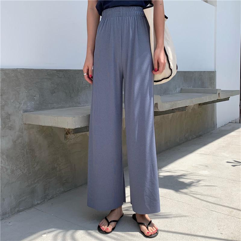 itGirl Shop ELASTIC WAIST KOREAN FASHION LOOSE THIN PANTS