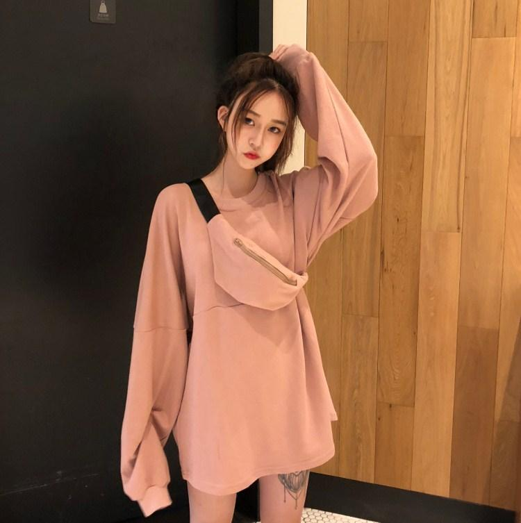 EXTRA LONG SLEEVE LOOSE CASUAL SWEATSHIRT