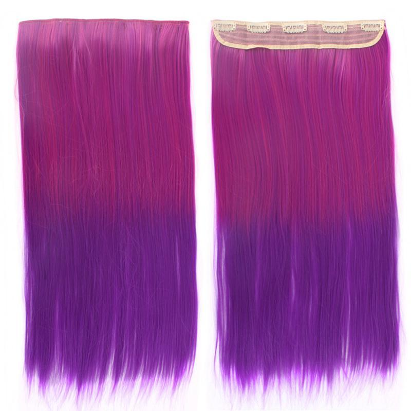 itGirl Shop FAUX COLORFUL GRADIENT HAIR CLIP