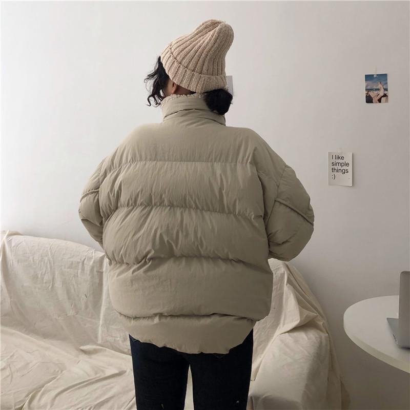 itGirl Shop FAUX FUR COLLAR WARM PUFF QUILTED OUTWEAR JACKET