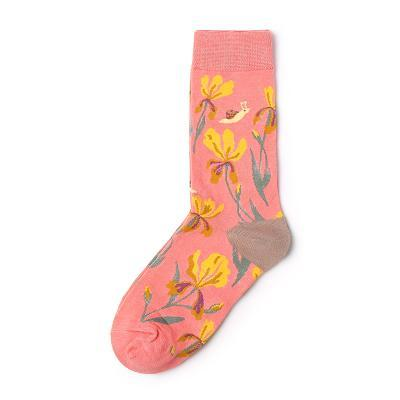 itGirl Shop FLOWERS BIRD PRINT SOCKS